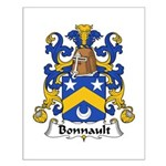 Bonnault Family Crest Small Poster