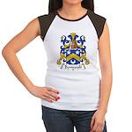 Bonnault Family Crest Women's Cap Sleeve T-Shirt
