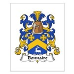 Bonnaire Family Crest  Small Poster