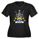 Bonnaire Family Crest  Women's Plus Size V-Neck Da