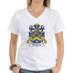 Bonnaire Family Crest  Women's V-Neck T-Shirt
