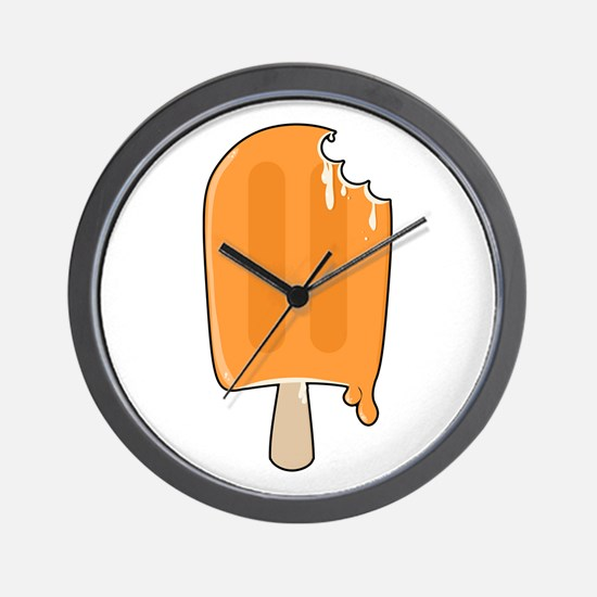 Creamsicle Wall Clock