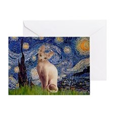Starry Night / Sphynx Greeting Card