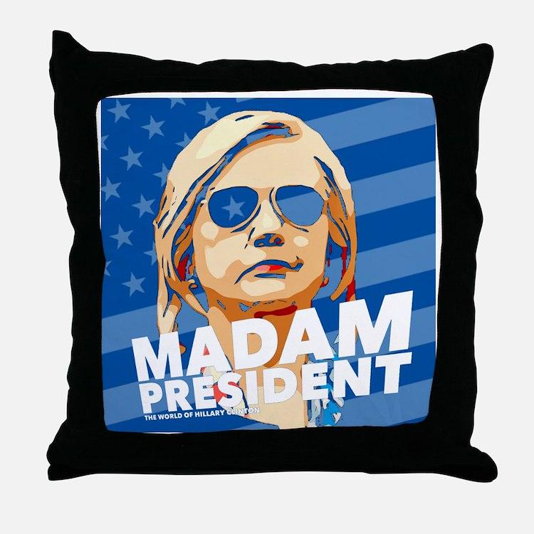 Madam President Throw Pillow