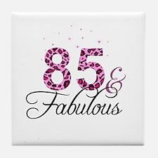 85 and Fabulous Tile Coaster