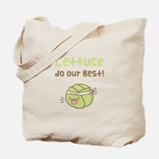 Kawaii Lettuce Do Our Best Vegetable Pun Tote Bag
