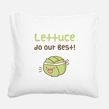 Kawaii Lettuce Do Our Best Vegetable Pun Square Ca