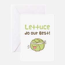 Kawaii Lettuce Do Our Best Vegetable Pun Greeting