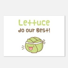 Kawaii Lettuce Do Our Best Vegetable Pun Postcards