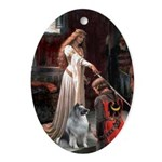 Accolade / Keeshond Oval Ornament