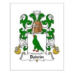 Boivin Family Crest Small Poster