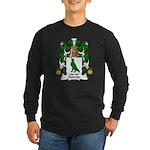 Boivin Family Crest Long Sleeve Dark T-Shirt