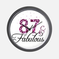 87 and Fabulous Wall Clock