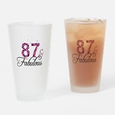 87 and Fabulous Drinking Glass