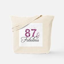 87 and Fabulous Tote Bag