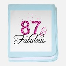 87 and Fabulous baby blanket