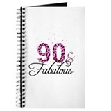 90th birthday fabulous Journals & Spiral Notebooks