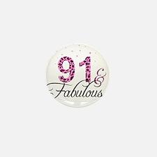 91 and Fabulous Mini Button