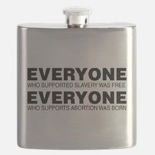 Slavery and Abortion Flask
