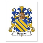 Boisson Family Crest Small Poster