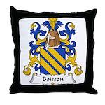 Boisson Family Crest Throw Pillow
