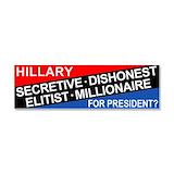 "Hillary liar 3"" x 10"""