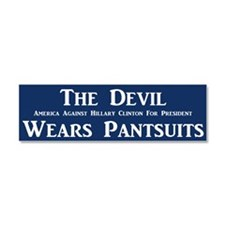 The Devil Wears Pantsuits Car Magnet 10 X 3