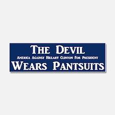 The Devil Wears Pantsuits Car Magnet 10 X 3
