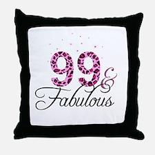 99 and Fabulous Throw Pillow