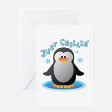 Just Chilin Greeting Cards