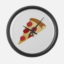 Pizza Slice Large Wall Clock