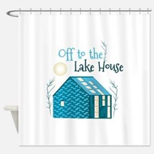 To Lake House Shower Curtain