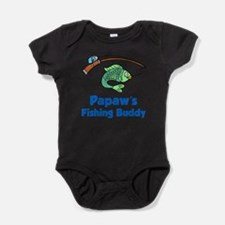 Papaws Fishing Buddy Baby Bodysuit