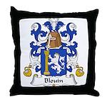 Blouin Family Crest Throw Pillow