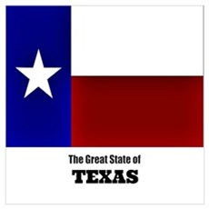 The Great State of Texas Canvas Art