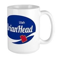 Brian Head Ski Resort Utah oval Mugs