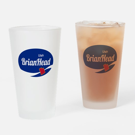 Brian Head Ski Resort Utah oval Drinking Glass