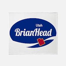 Brian Head Ski Resort Utah oval Throw Blanket