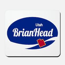 Brian Head Ski Resort Utah oval Mousepad