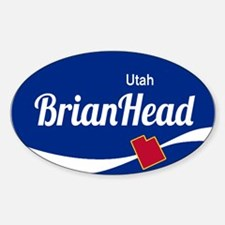 Brian Head Ski Resort Utah oval Decal