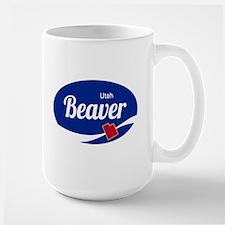 Beaver Mountain Ski Resort Utah oval Mugs