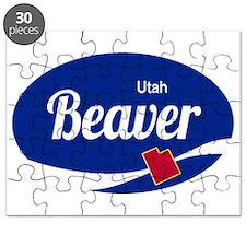 Beaver Mountain Ski Resort Utah oval Puzzle