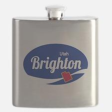 Brighton Ski Resort Utah oval Flask
