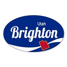 Brighton Ski Resort Utah oval Decal
