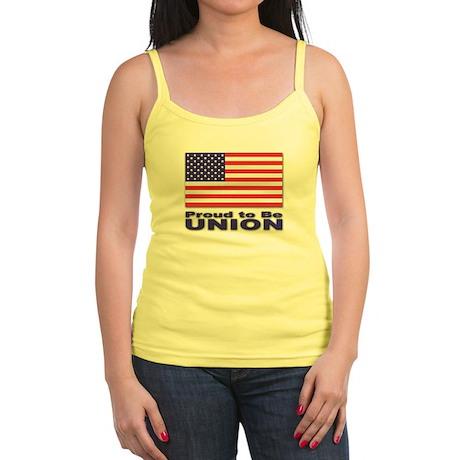 Proud to be Union Jr. Spaghetti Tank