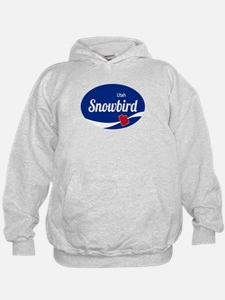 Snowbird Ski Resort Utah oval Hoodie