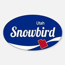 Snowbird Ski Resort Utah oval Decal