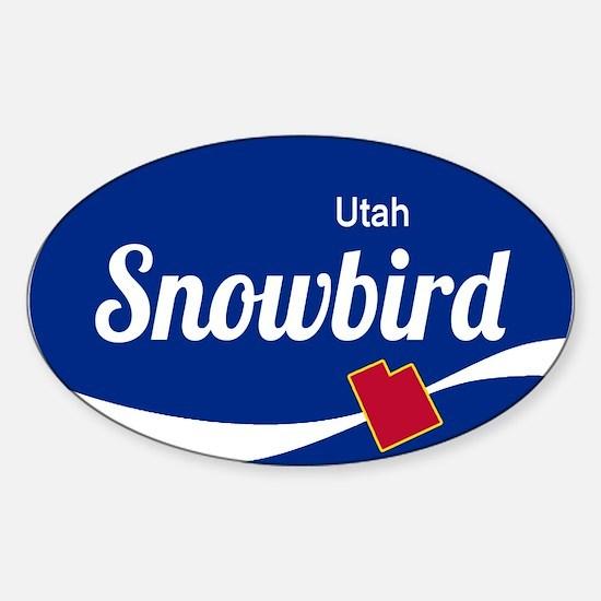 Snowbird Ski Resort Utah oval Decal