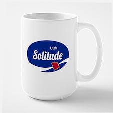 Solitude Ski Resort Utah oval Mugs