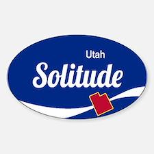 Solitude Ski Resort Utah oval Decal